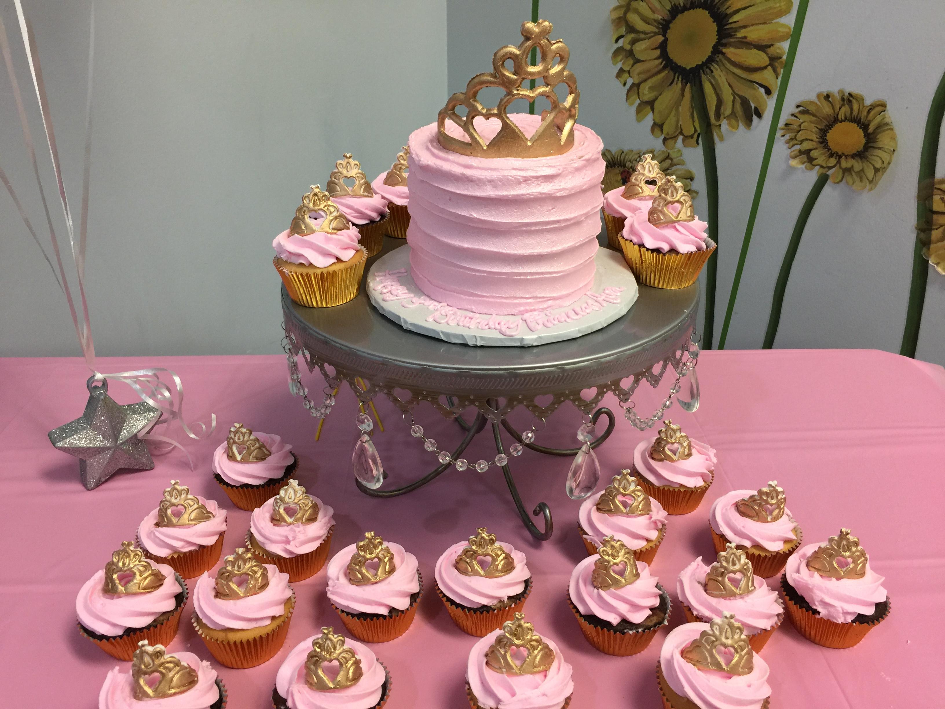 Pink Princess Cake & Cupcakes